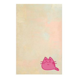 Pink Smiling Kitty Cat Customised Stationery