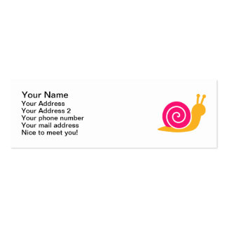 Pink snail pack of skinny business cards