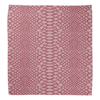 Pink Snake Print Bandana
