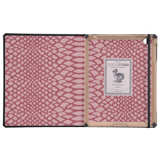Pink Snake Print Cover For iPad