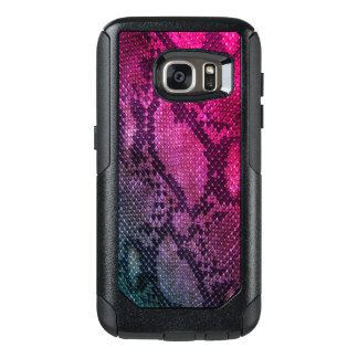 Pink Snake skin style Samsung Cases