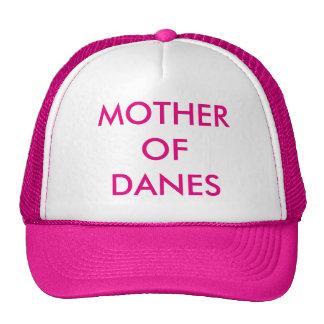 "Pink snapback/truckers hat ""Mother of Danes"""