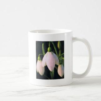 pink snow drop basic white mug