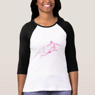 Pink Snowboarder T-Shirt