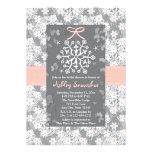 Pink Snowflake Bridal Shower Invitations