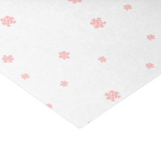 Pink Snowflake Christmas Tissue Paper