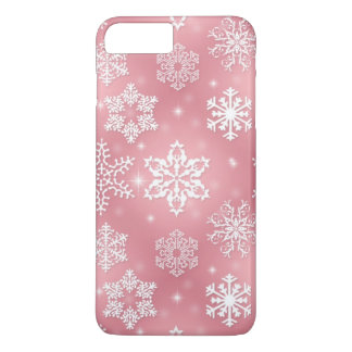 Pink snowflake iPhone 7 plus barely there case