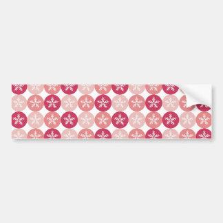 Pink Snowflake Pattern Bumper Sticker