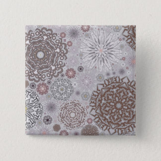 Pink Snowflakes 15 Cm Square Badge