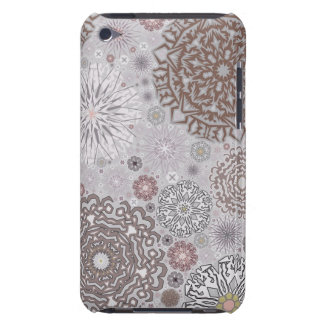 Pink Snowflakes Barely There iPod Covers