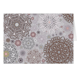 Pink Snowflakes Card