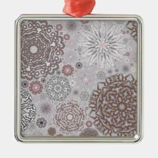 Pink Snowflakes Christmas Ornament