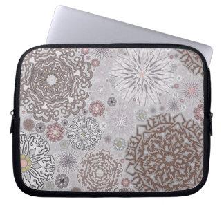 Pink Snowflakes Laptop Sleeve