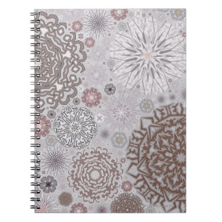 Pink Snowflakes Notebook