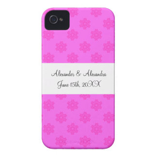 Pink snowflakes wedding favors iPhone 4 covers