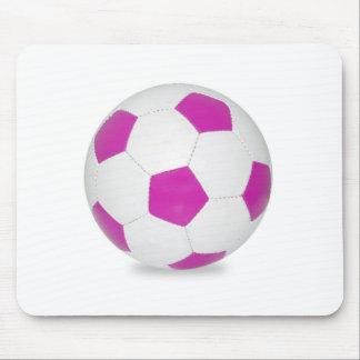 Pink Soccer Ball Mousepads