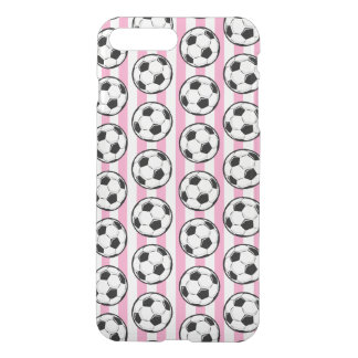 Pink Soccer Ball Stripes iPhone 7 Plus Case