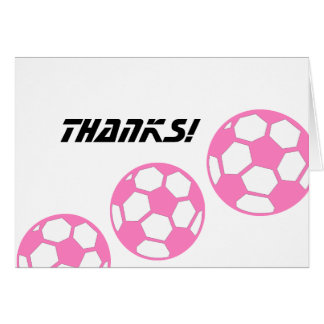 Pink Soccer Balls- Thank You Card