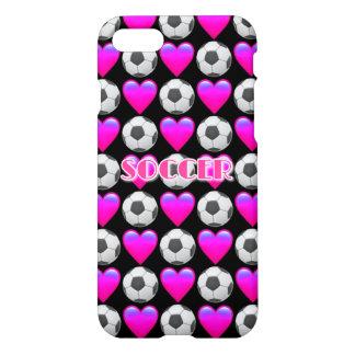 Pink Soccer Emoji iPhone 7 Glossy Case