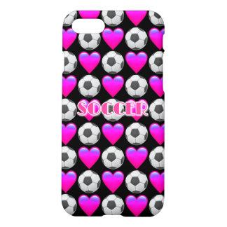 Pink Soccer Emoji iPhone 7 Matte Case