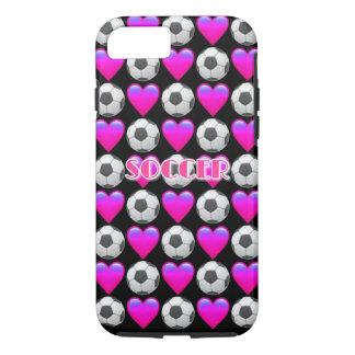 Pink Soccer Emoji iPhone 7, Tough Phone Case