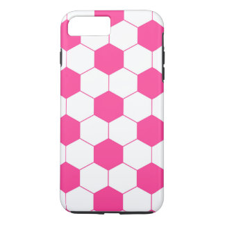 Pink Soccer Football Ball Pattern iPhone 7 Plus Case