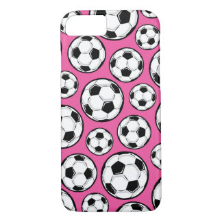 Pink Soccer Girl Pattern iPhone 7 Case