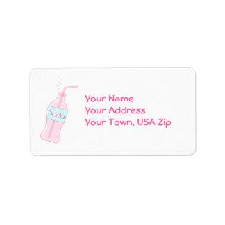 Pink Soda Address Label