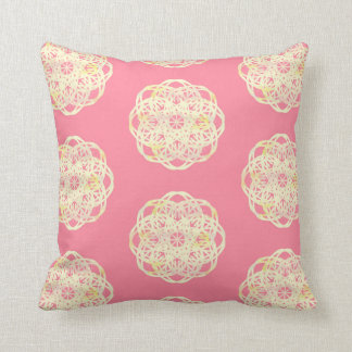 Pink Soft Rainbow Lace Flower Pillow
