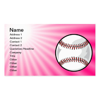 Pink Softball Double-Sided Standard Business Cards (Pack Of 100)