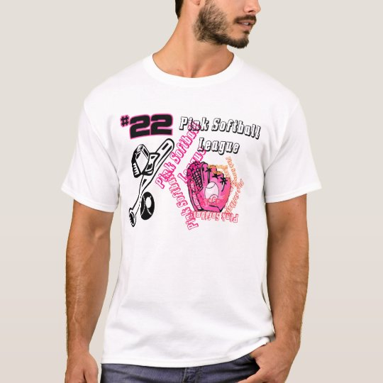 Pink Softball League T-Shirt