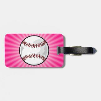 Pink Softball Luggage Tag