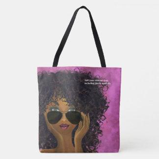 Pink Sorority Black Art Tote Bag