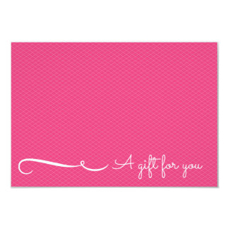 Pink Spa or Salon Gift Certificate 9 Cm X 13 Cm Invitation Card
