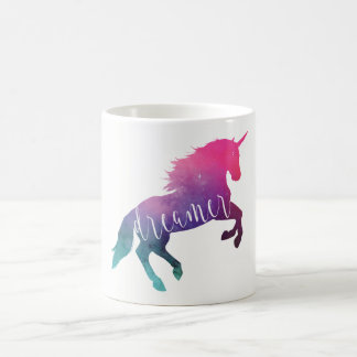 Pink Space Unicorn Dreamer Coffee Mug
