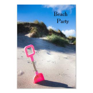 Pink Spade at the Beach Invitation