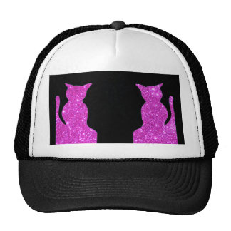 Pink Sparkle Cats Ball Cap Hat CricketDiane