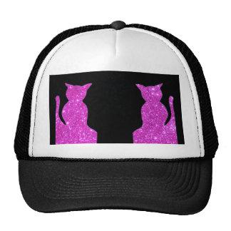 Pink Sparkle Cats Ball Cap Hat CricketDiane Trucker Hat