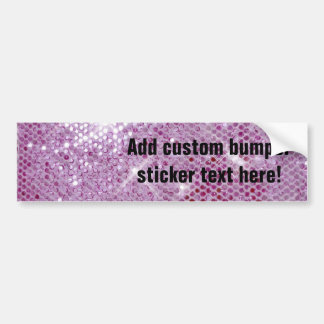 Pink Sparkle-Look Bumper Sticker