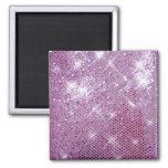 Pink Sparkle-Look Refrigerator Magnet