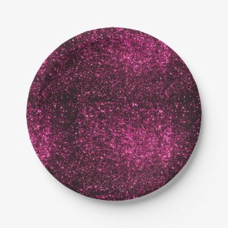 Pink Sparkles Paper Plate