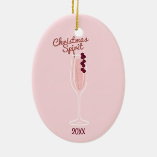 Pink Sparkling Christmas Christmas Ornament