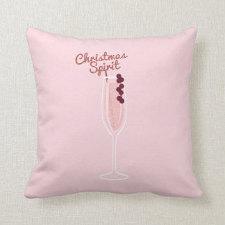 Pink Sparkling Christmas Cushion