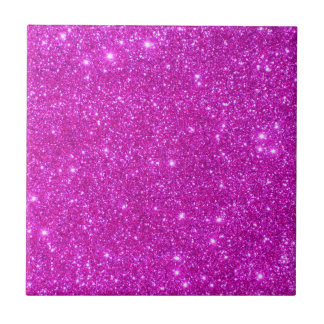 Pink Sparkly Glitter Fashion Girly Tile 5