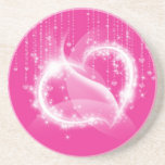 Pink Sparkly Hearts Coaster