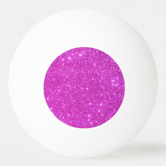 Pink Sparkly Ping Pong Ball Girly Pingpong