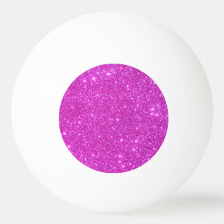 Pink Sparkly Ping Pong Ball Girly Pingpong