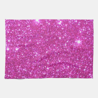 Pink Sparkly Sparkle Glitter Kitchen Towels