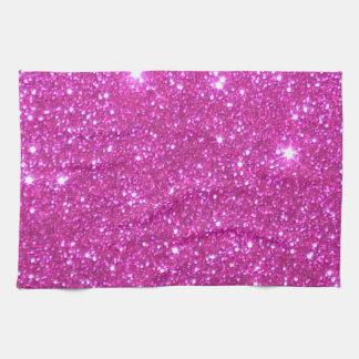 Pink Sparkly Sparkle Glitter Kitchen Towels