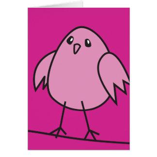 pink sparrow card